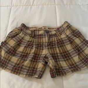 Free People plaid shorts